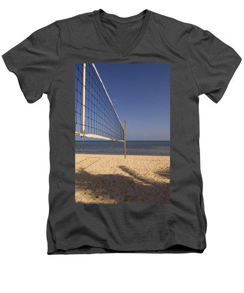 Vollyball Net On The Beach Men's V-Neck T-Shirt