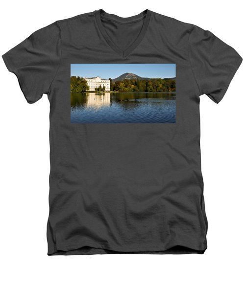 Von Trapp's Mansion Men's V-Neck T-Shirt by Silvia Bruno