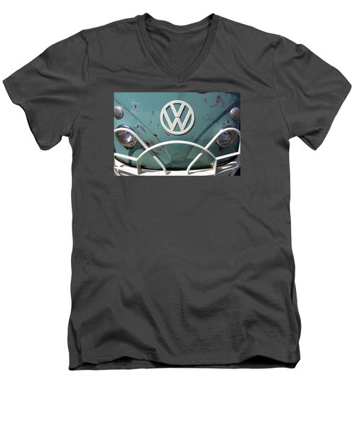 Men's V-Neck T-Shirt featuring the photograph Vw Oldie But Goodie by Jane Eleanor Nicholas