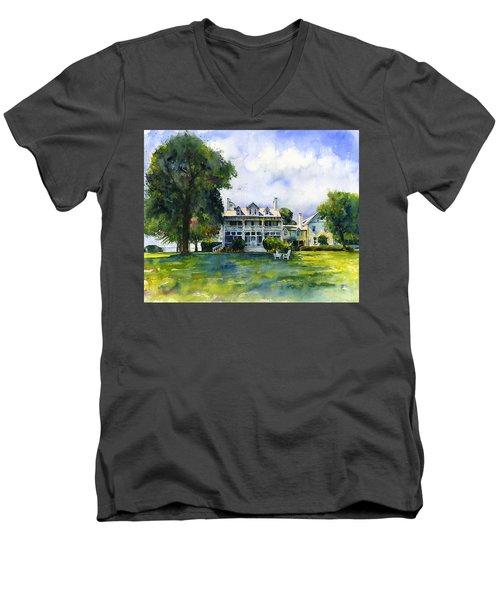Wades Point Inn Men's V-Neck T-Shirt by John D Benson