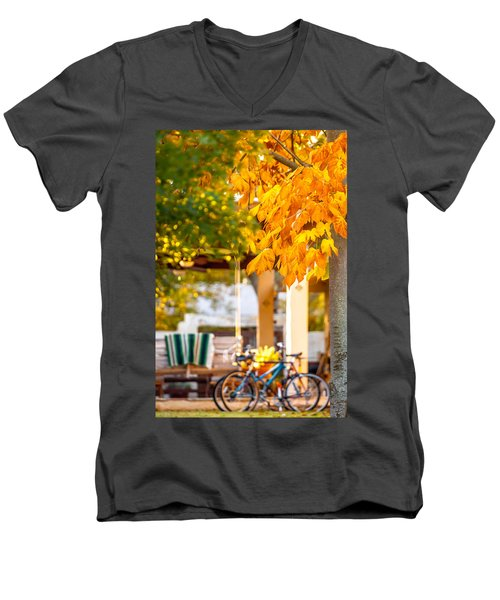 Waiting For A Ride Men's V-Neck T-Shirt