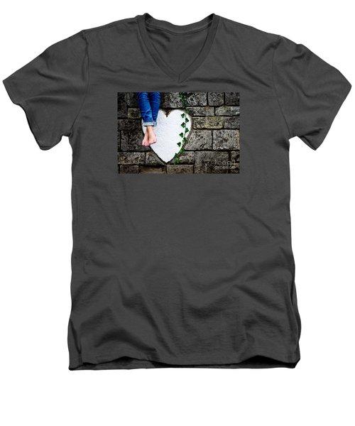 Waiting For Love Men's V-Neck T-Shirt