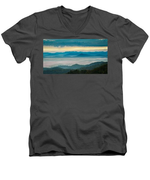Men's V-Neck T-Shirt featuring the photograph Waiting For The Sun by Joye Ardyn Durham