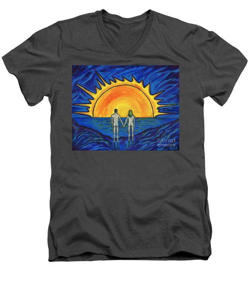 Waiting For The Sun Men's V-Neck T-Shirt