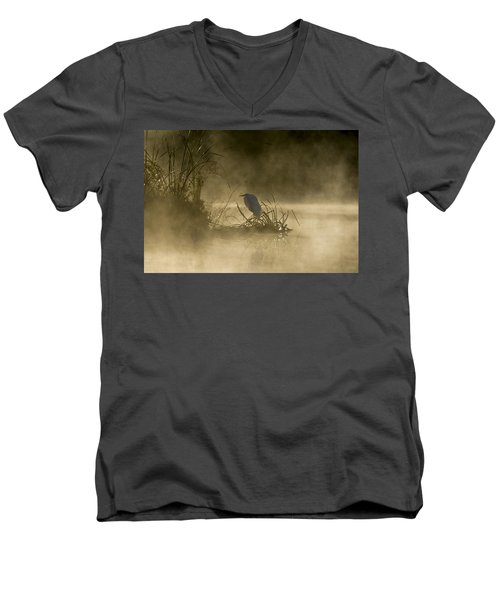 Men's V-Neck T-Shirt featuring the photograph Waiting For The Sun by Steven Sparks