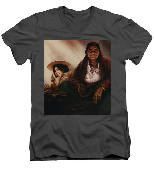 Waiting For The Sunset Men's V-Neck T-Shirt by Yvonne Wright
