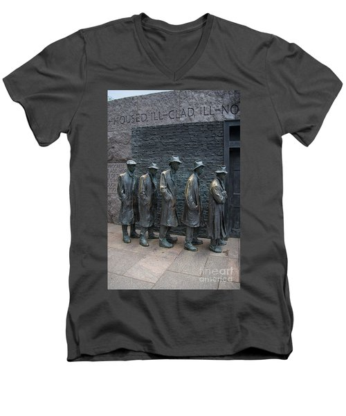 Waiting In Line Men's V-Neck T-Shirt