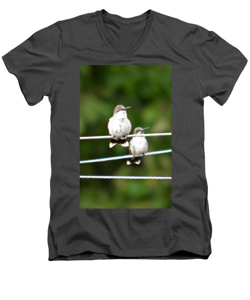 Men's V-Neck T-Shirt featuring the photograph Waiting Our Turn by Nick Kirby