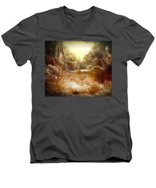 Walden Pond Men's V-Neck T-Shirt