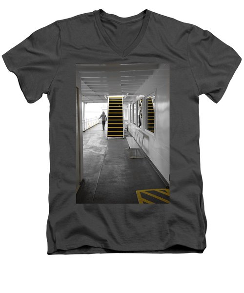 Men's V-Neck T-Shirt featuring the photograph Walk This Way by Marilyn Wilson
