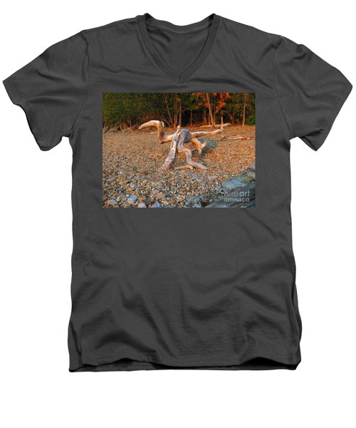 Walking On The Beach Men's V-Neck T-Shirt