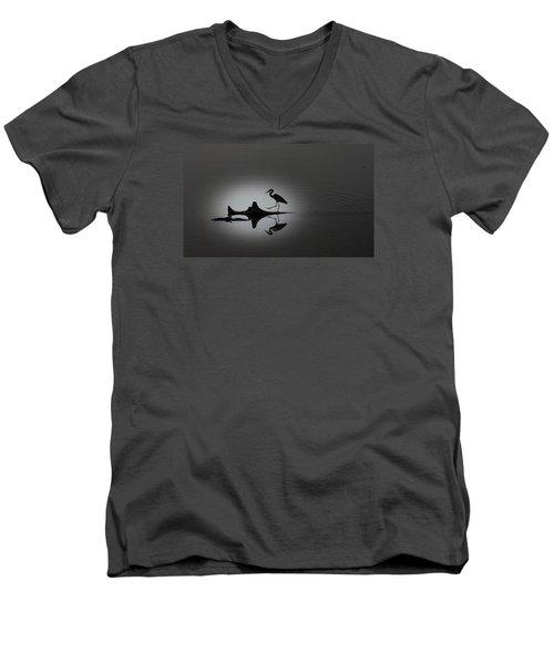 Walking On The Water Men's V-Neck T-Shirt by Menachem Ganon