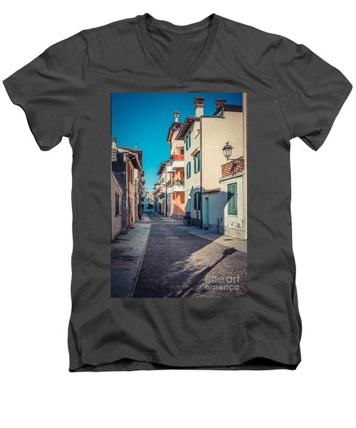 walking through Grado - through the past Men's V-Neck T-Shirt
