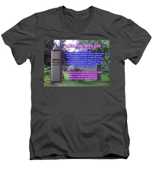 Walking With God Men's V-Neck T-Shirt
