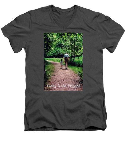 Walking With Grandma Men's V-Neck T-Shirt
