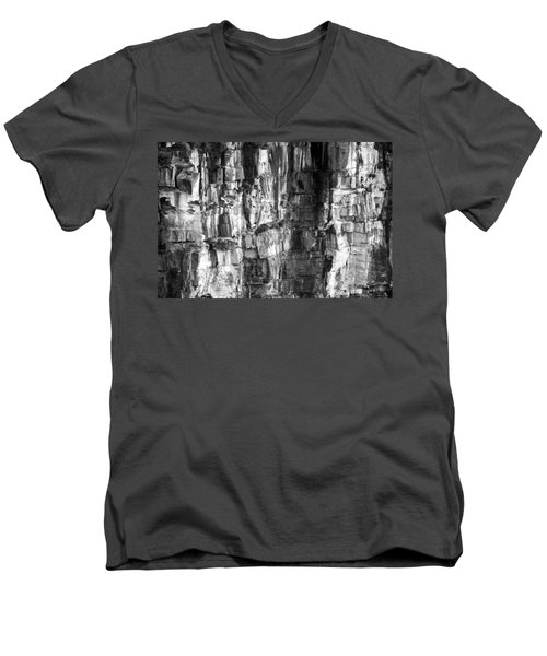 Wall Of Rock Men's V-Neck T-Shirt by Miroslava Jurcik