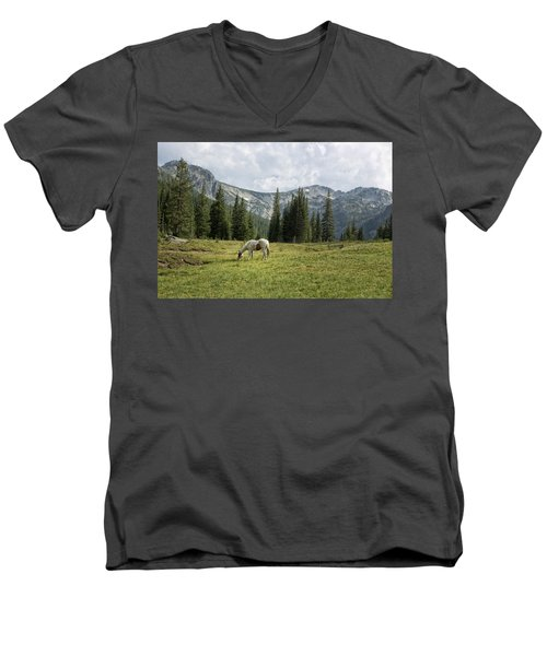 Wallowas - No. 2 Men's V-Neck T-Shirt by Belinda Greb