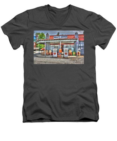 Wally's Service Station Men's V-Neck T-Shirt