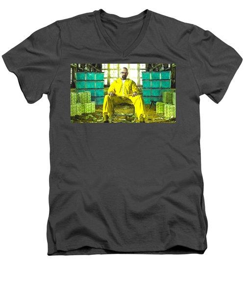 Walter White As Heisenberg Painting Men's V-Neck T-Shirt by Gianfranco Weiss