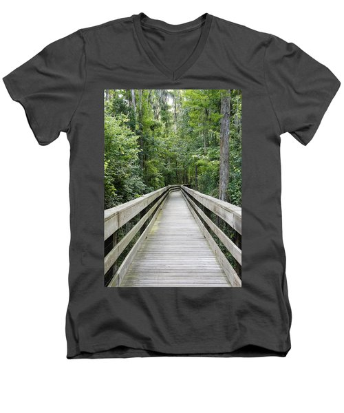 Men's V-Neck T-Shirt featuring the photograph Wander by Laurie Perry