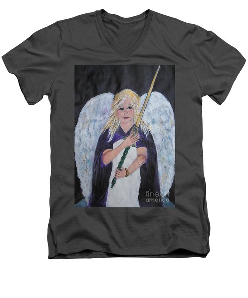 Warrior Angel Men's V-Neck T-Shirt