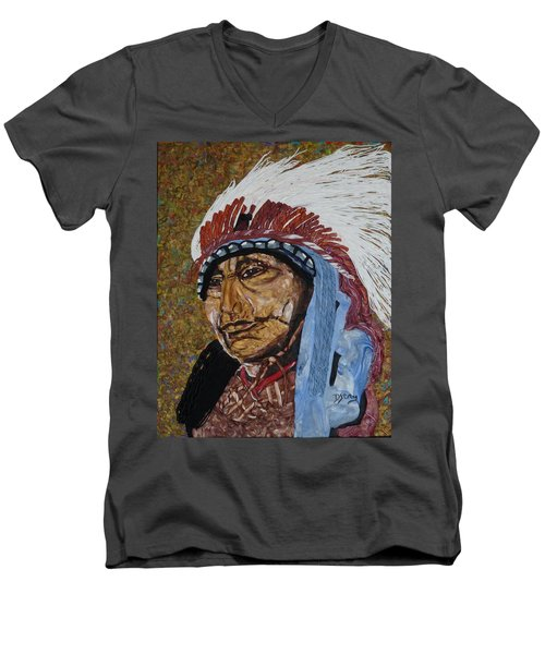 Warrior Chief Men's V-Neck T-Shirt