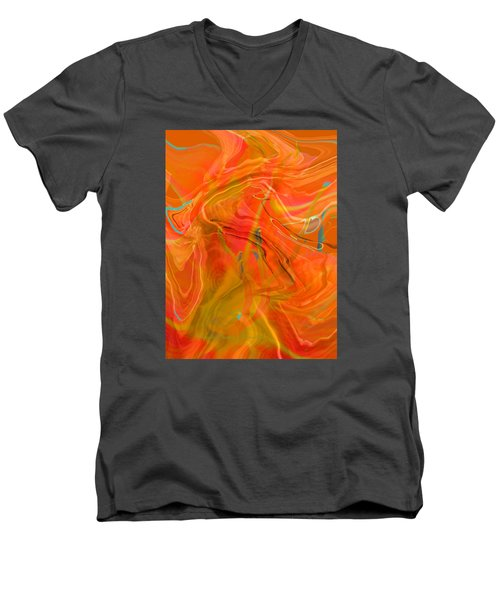 Men's V-Neck T-Shirt featuring the photograph Was A Daylily by Brooks Garten Hauschild