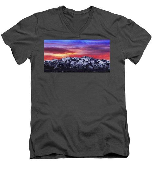 Wasatch Sunrise 2x1 Men's V-Neck T-Shirt