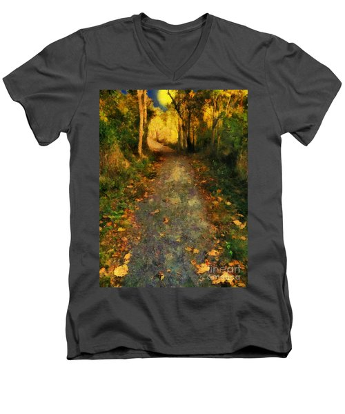 Washed In Gold Men's V-Neck T-Shirt by RC deWinter