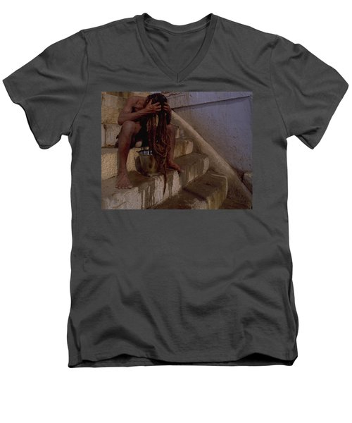 Varanasi Hair Wash Men's V-Neck T-Shirt