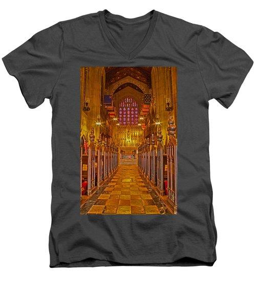 Washington Memorial Chapel Altar Men's V-Neck T-Shirt by Michael Porchik