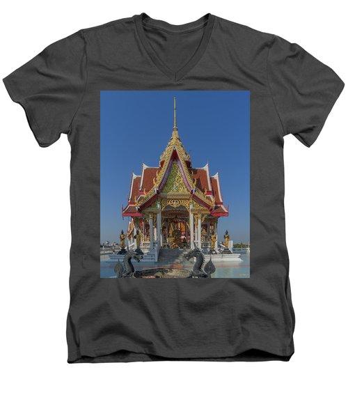Wat Bukkhalo Central Roof-top Pavilion Dthb1809 Men's V-Neck T-Shirt