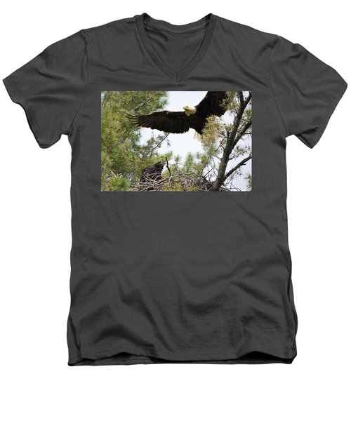 Watch Out Below Men's V-Neck T-Shirt