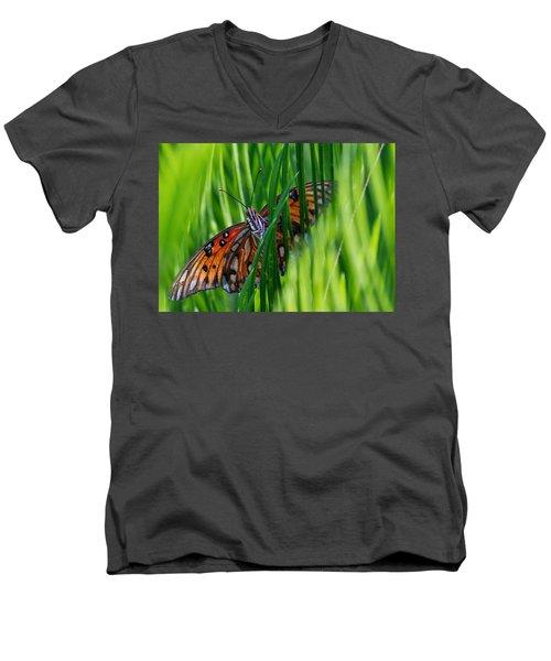 Watching Me Men's V-Neck T-Shirt