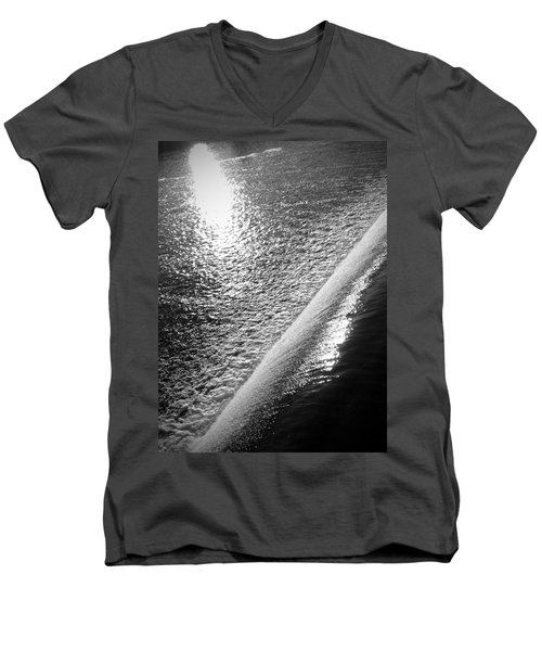 Men's V-Neck T-Shirt featuring the photograph Water And Light by Photographic Arts And Design Studio