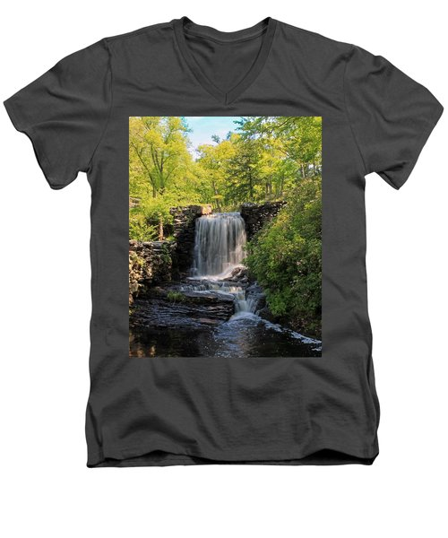 Water Fall Moore State Park 2 Men's V-Neck T-Shirt