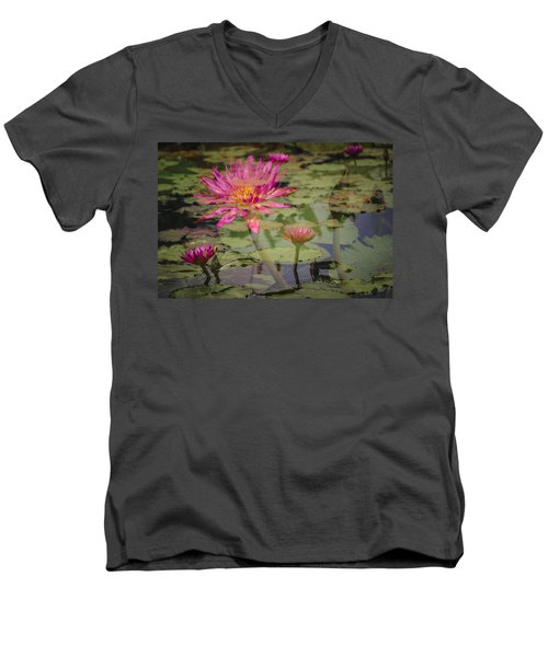 Water Garden Dream Men's V-Neck T-Shirt
