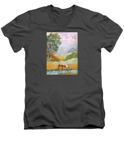 Water Hole Men's V-Neck T-Shirt by Mary Armstrong