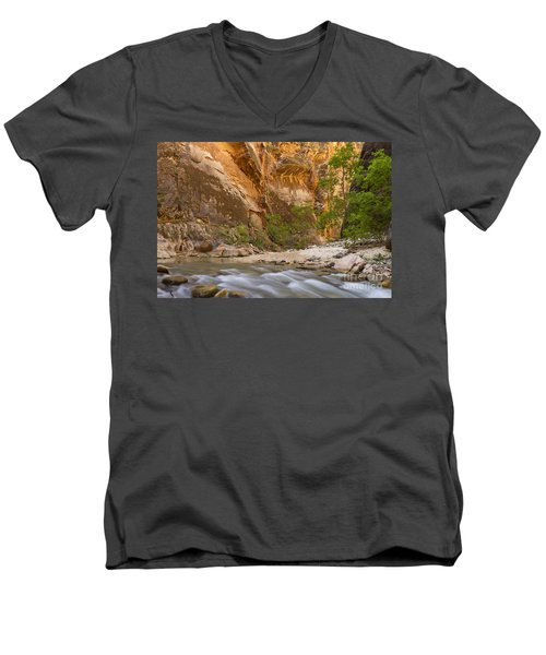 Men's V-Neck T-Shirt featuring the photograph Water In The Narrows by Bryan Keil