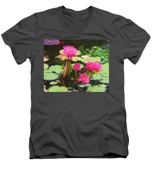 Water Lilies 008 Men's V-Neck T-Shirt