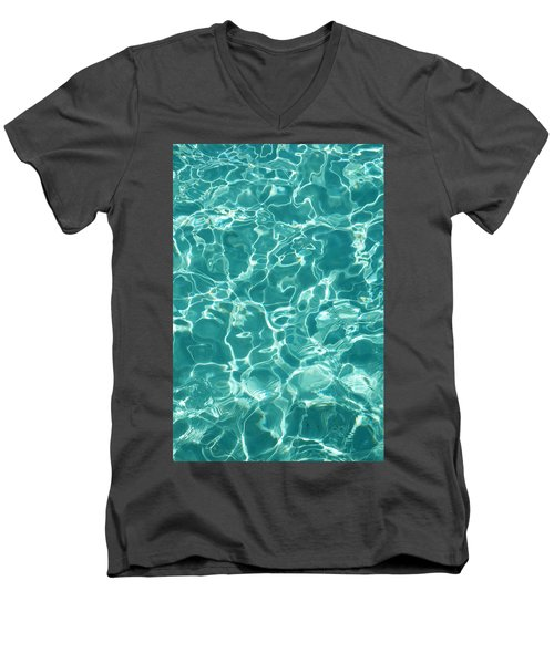 Water Meditation I. Five Elements. Healing With Feng Shui And Color Therapy In Interior Design Men's V-Neck T-Shirt by Jenny Rainbow