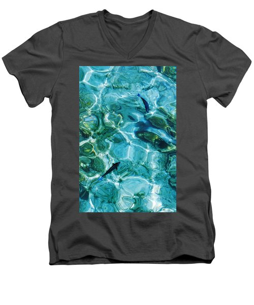 Water Meditation II. Five Elements. Healing With Feng Shui And Color Therapy In Interior Design Men's V-Neck T-Shirt by Jenny Rainbow
