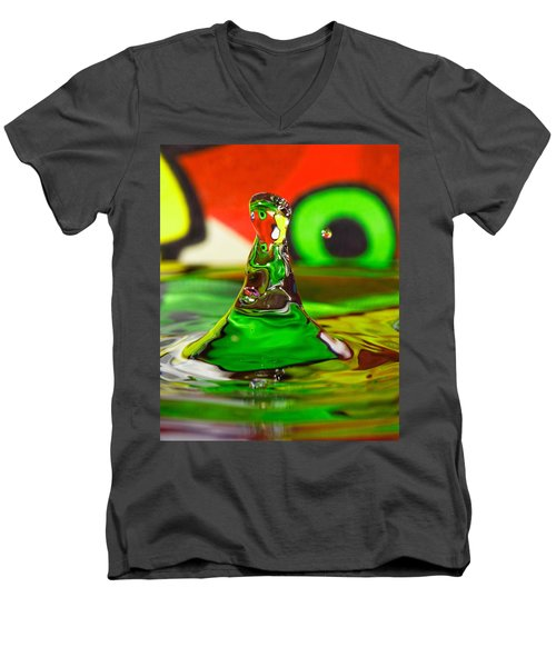 Men's V-Neck T-Shirt featuring the photograph Water Mountain by Peter Lakomy