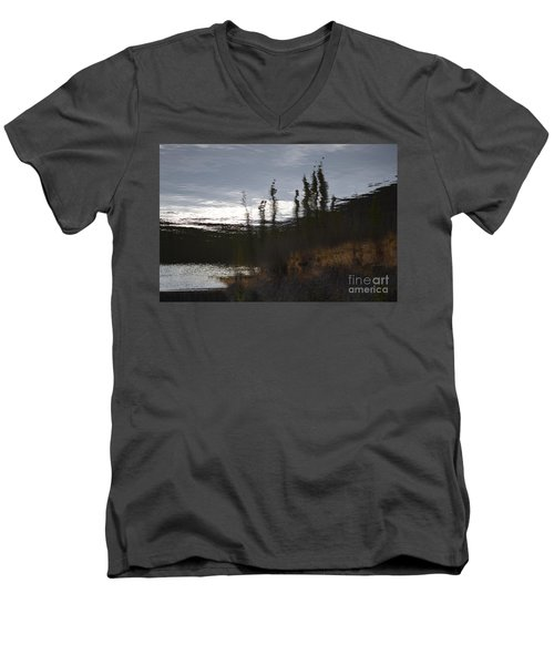 Men's V-Neck T-Shirt featuring the photograph Water Paint by Brian Boyle