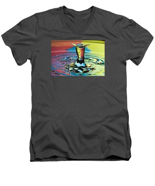 Water Splash Art Men's V-Neck T-Shirt