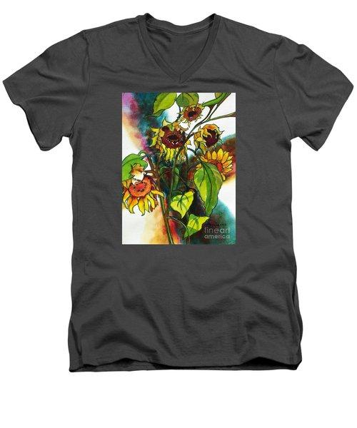 Sunflowers On The Rise Men's V-Neck T-Shirt