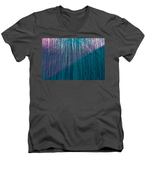 Waterfall Abstract Men's V-Neck T-Shirt