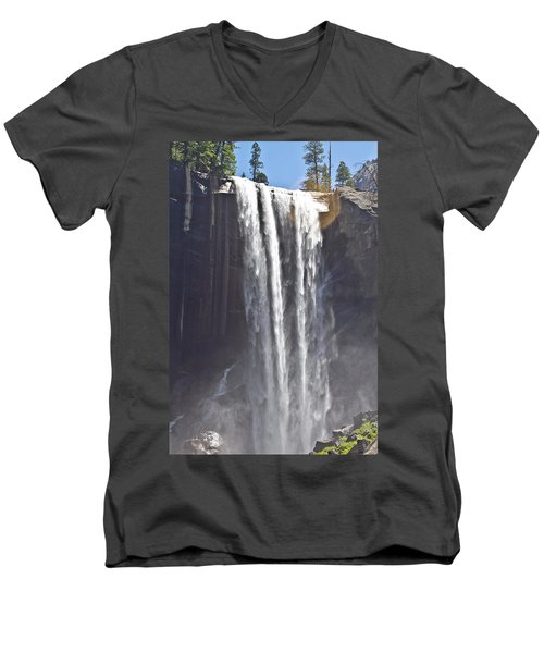 Waterfall Men's V-Neck T-Shirt by Brian Williamson