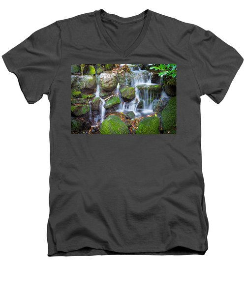 Waterfall In Marlay Park Men's V-Neck T-Shirt
