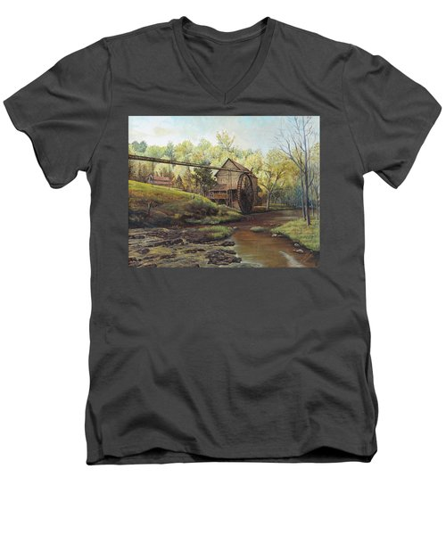 Watermill At Daybreak  Men's V-Neck T-Shirt